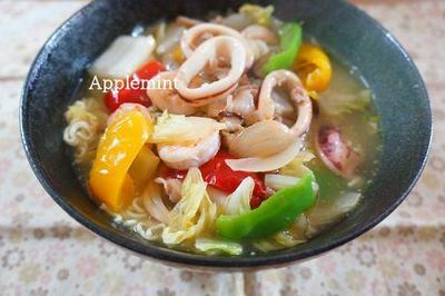 【モニター】サッポロ一番で海鮮八宝菜風塩とろみ麺