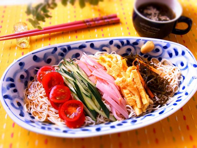 豆腐素麺の冷やし中華