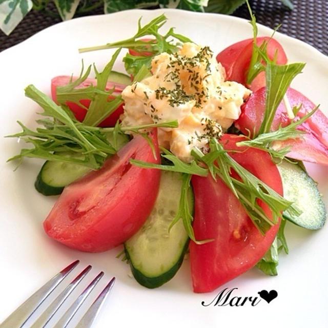「だし×オイル」楽旨♡レンジでタルタルソース〜和風味〜で食べる美肌サラダ