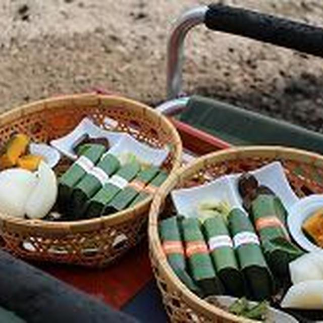 竹籠弁当でアウトドアランチ