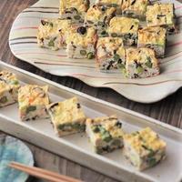 ■【ヤマキだし部】グリーンピースとアスパラ入り春の擬製豆腐♪