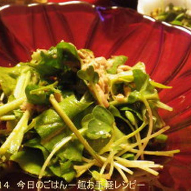 ルッコラとツナの和風サラダ さっぱり系で(^_-)-☆