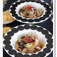 ストウブのお鍋で作る宮崎県産のピーマンと 豚肉ときのこのピリ辛にんにく醤油蒸し炒め♪
