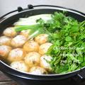 すき焼き鍋で♪野菜たっぷり鶏ダンゴ鍋