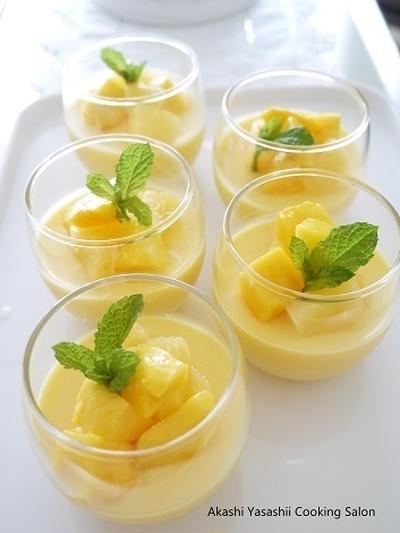 【掲載】レシピブログ『今日のイチオシ!ブログ&レシピ』マンゴーとパイナップルのプリン