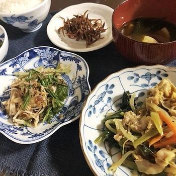 病欠5日目&小松菜と豚肉のカレー炒め