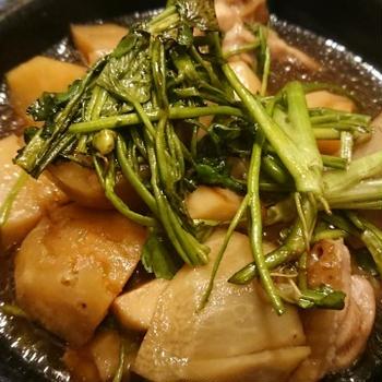 野郎飯流・海老芋とせりの煮物