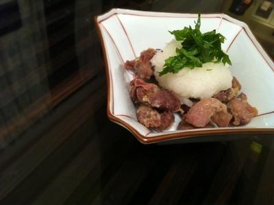 砂肝ぽん酢