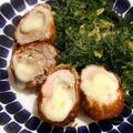 ササミチーズロールカツ!牡蠣のパスタとフラン