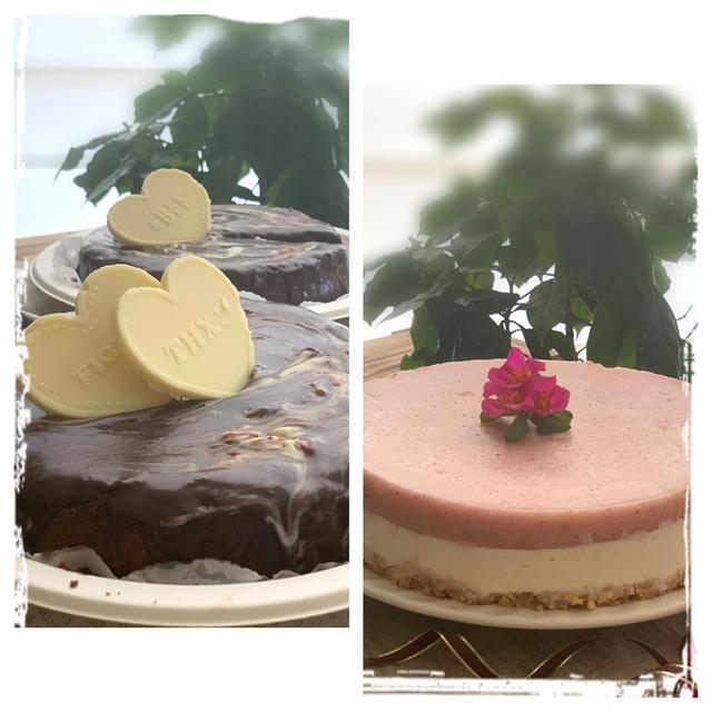 突然頼まれたケーキ作りはチョコレートケーキとレアーチーズケーキ