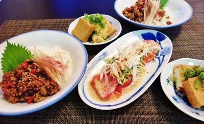 下準備とストックの助っ人の出番になった晩御飯☆棒棒鶏風サラダ