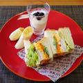 覚悟は空振り(笑)~甘酢づけがランクアップ☆ミックスサンドイッチ~ by みなづきさん