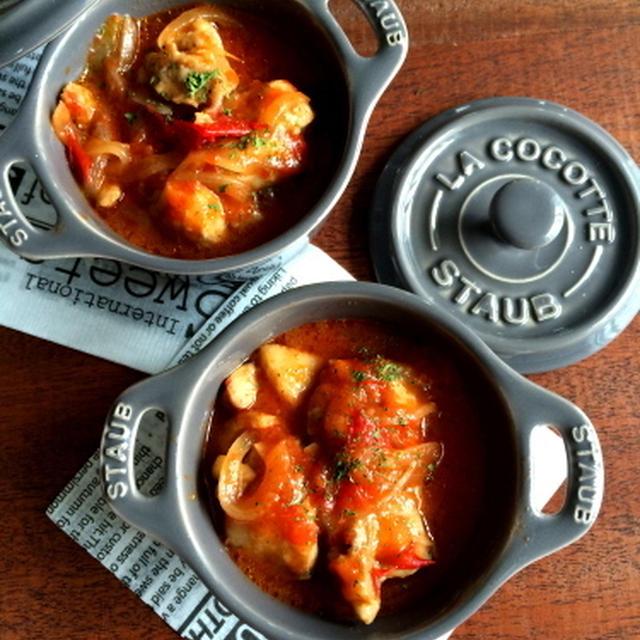 【レンジで一発!!】めっちゃおすすめです。タッパー1つで絶品チキンのトマト煮&チーズ焼き