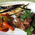 バルサミコ酢で煮込んだ鶏手羽