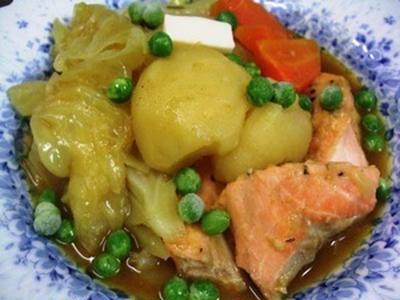 生じゃけと新野菜のカレースープ