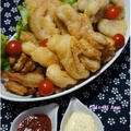 きく芋とお野菜で!フィッシュ&チップス