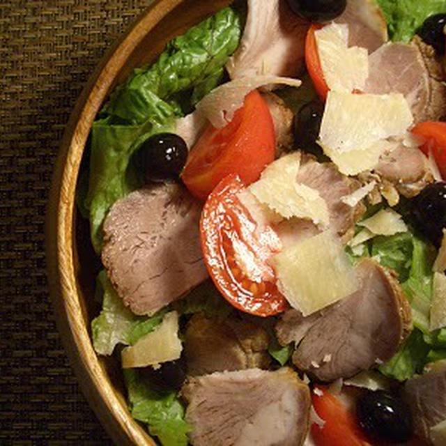 ブラックオリーブとローストポークのサラダ~糖質制限食~