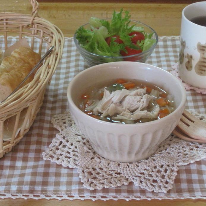 鶏ささみとえのきのスープ