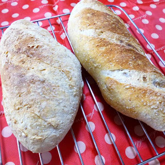 【ドライイースト1.5gのパン】リスドォル+グラハム粉でバゲット2本♪