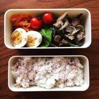 空芯菜と砂肝のお弁当