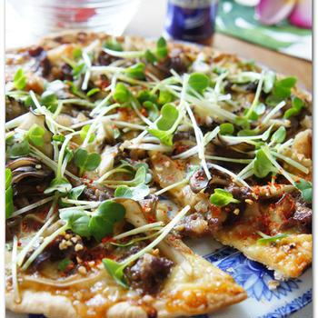 スタミナガーリック焼肉ピザ と6月♪