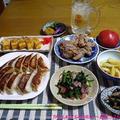 【晩酌】鶏肉唐揚げ・焼き餃子・しらす入りたまご焼き…