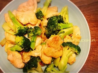 片栗粉でお化粧の鶏むね肉はやわらかトゥルン♪ 『 鶏むね肉とブロッコリーの簡単炒め 』& ごぼうたっぷり『 かしわ飯 』