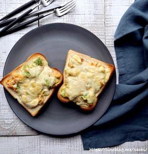 アボカド明太玉子チーズトースト♡【#簡単レシピ#朝食】