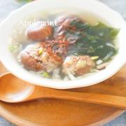 【モニター】香ばし♪椎茸肉詰めをちょいたしわかめスープ