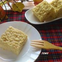ボーソー米油部♪米油でりんごのクランブルケーキ