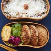 エノキ入り♡ふんわりハンバーグ弁当&昨日のホタルイカご飯