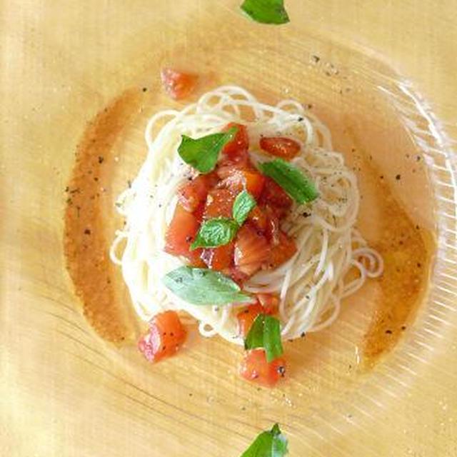 パプリカ*トマトの冷製パスタ