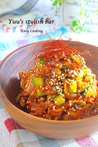 火を使わずに、もう一品♪『キムチ納豆のおつまみ副菜』♡疲れた胃腸にWで効く!!《簡単*節約》