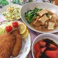 あじフライ、厚揚げと小松菜の煮物、792円