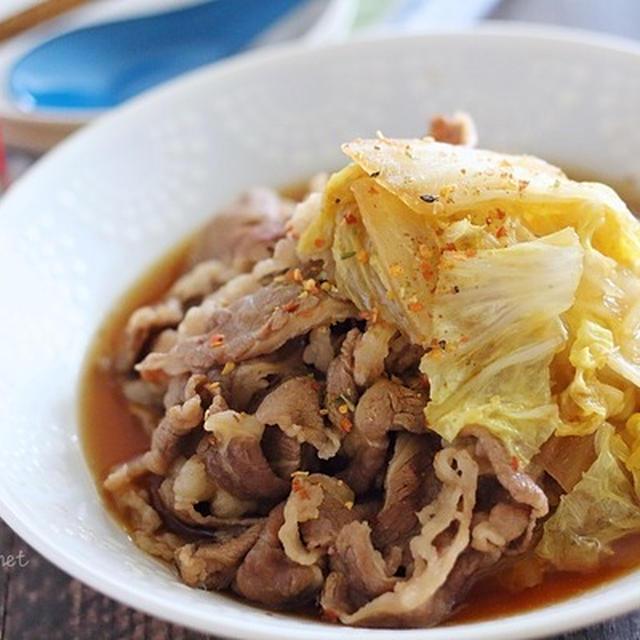 牛肉と白菜のすき煮|煮汁入れて煮るだけ簡単なのに絶品!
