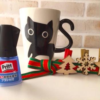 大好きな黒猫ちゃんカップ&クリスマスクリップ
