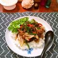 牛肉とコリアンダーのエスニックジンジャー炒め&ライス ~ ご飯がすすむ♪ by mayumiたんさん