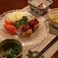 レシピ付き献立 ポテトコロッケ・冬瓜のエビそぼろあんかけ・いんげんのごま味噌柄・たことオクラの酢の物