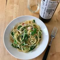 【レシピブログ】たこと水菜のわさびマヨパスタ × 北海道の白