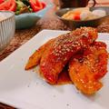 ササミの甘辛ブラックペッパー焼き♡美しいパンと炊飯器ケーキ