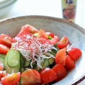ねぎ塩ドレッシングの中華サラダ