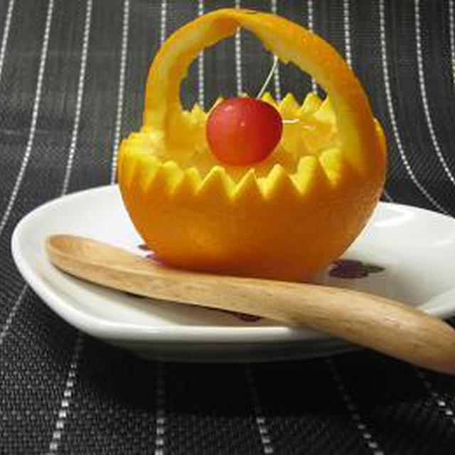 オレンジの籠☆オレンジゼリー