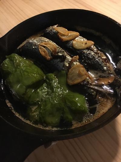 スキレットで手軽に真イワシのオイル煮