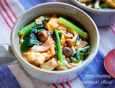 ♡ベーコンと野菜のたまごスープ♡【#簡単レシピ#節約#おかずスープ#連載】