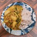 タカラ本みりんを使って、蕪と豚ひき肉のカレー風味あんかけご飯