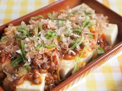 ☆豆×豆! 豆腐のキム納豆オーブン焼き☆