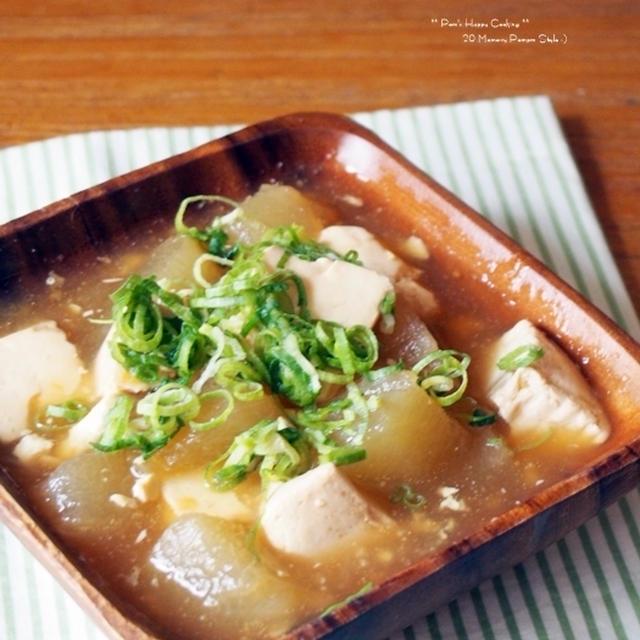 冬瓜と豆腐の餡絡め。