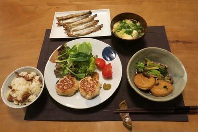 柚子つくねと北海道の本ししゃもの晩ご飯 と 姫こぶしの蕾♪