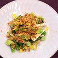 小松菜と長芋の納豆和え