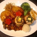 秋刀魚ロールと野菜のグリルプレート